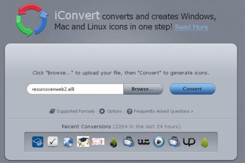 Convertir imágenes en iconos
