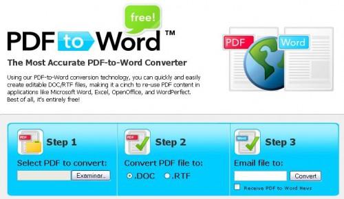 Transformar PDF a Word