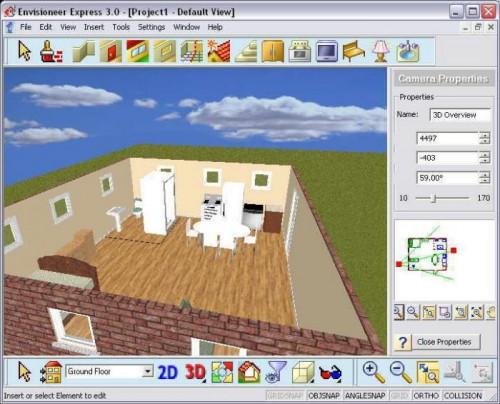Crea planos de casas con envisioneer express for Disenar habitaciones online 3d