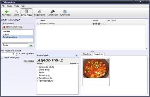 Guardar recetas de cocina en el PC