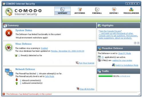 Comodo Firewall antivirus cortafuegos