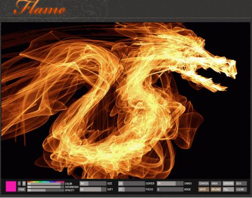Flame dibujar con llamas y fuego