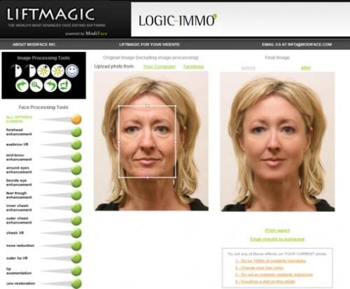 Editar imagenes online con Liftmagic