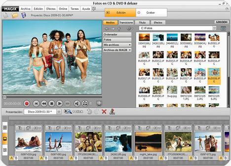 Grabar fotos en CD y DVD