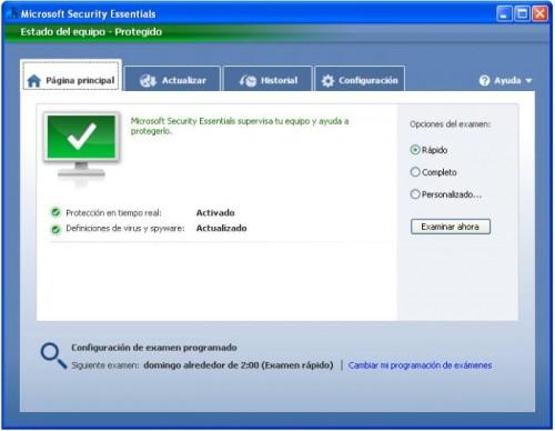 Descargar Microsoft Security Essentials Antivirus