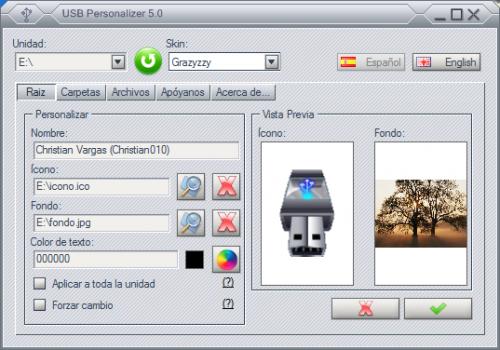 USB Personalizer, personaliza tu memoria USB