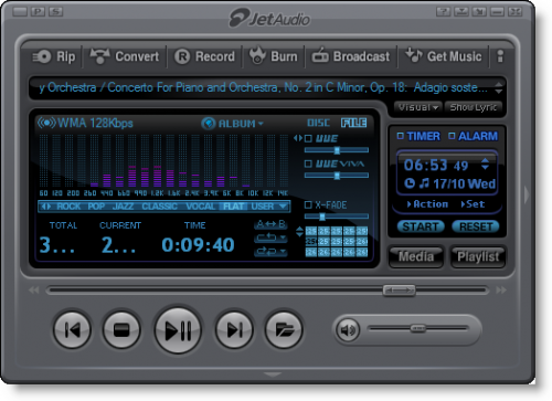 jetaudio reproductor de musica y video para pc