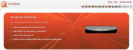 antivirus online BitDefender QuickScan