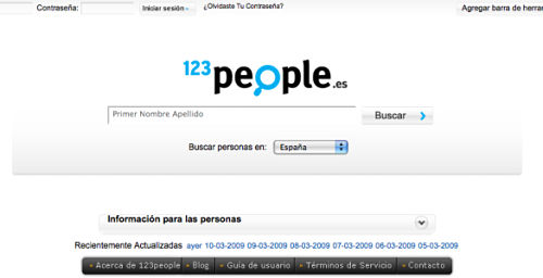 buscar encontrar personas en internet 123 people