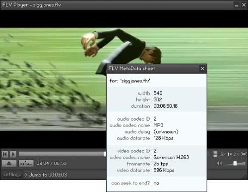 reproducir video audio flv