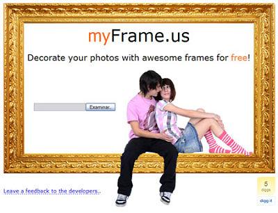 poner marcos imagenes fotos myFrame