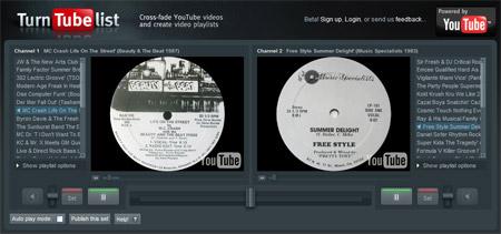 mezclar dos canciones youtube dj TurnTubeList