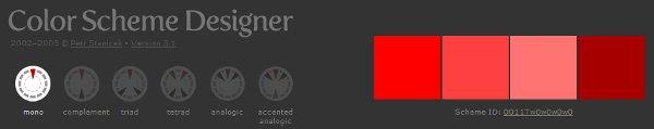 crear paleas de colores online Color Scheme Designer