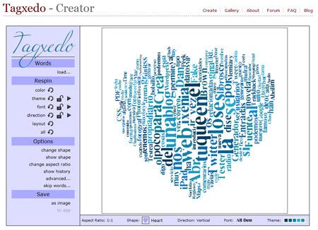 crear nubes de palabras textos tagxedo