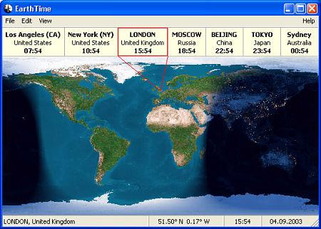 hora lugar mundo earthtime