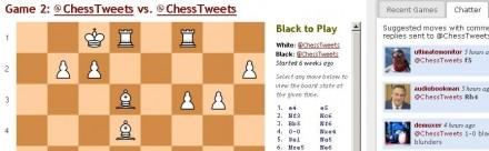 jugar ajedrez twitter chesstweets