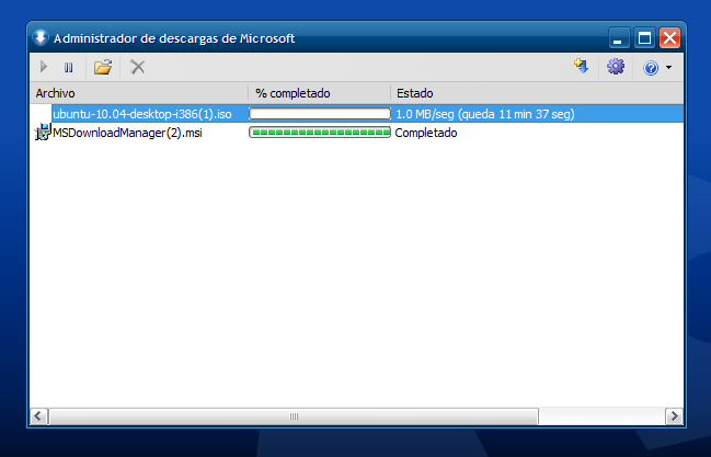 Microsoft Download Manager descargas directas