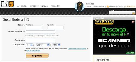 hi5 español fotos amigos registrarse