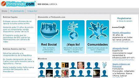 pleiteando abogados jueces juridico red social