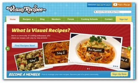 recetas cocina internet Visual Recipes