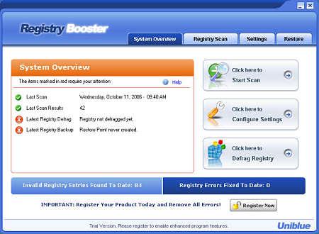 registry booster reparar errores pc