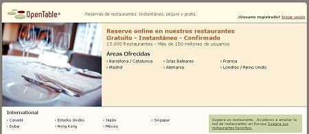 reservar restaurantes por internet opentable
