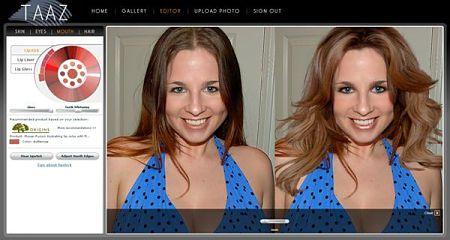 taaz maquillaje peluqueria subir foto peinados virtual