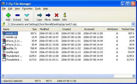 7 zip descomprimir comprimir archivos