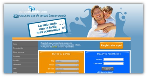 Parejaestable.com buscar pareja estable