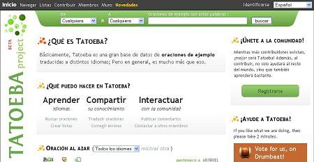 aprender idiomas frases audio tatoeba