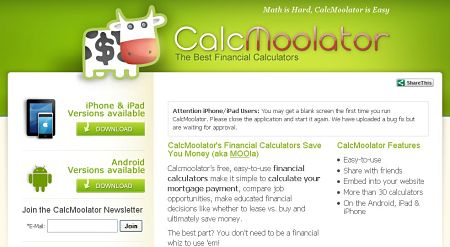 calculadoras financieras CalcMoolator