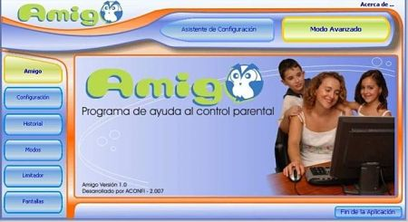 control acceso internet niños amigo control parental
