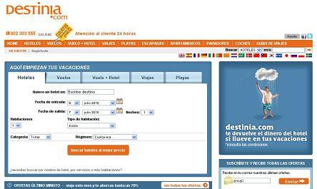 destinia.com viajes vuelos baratos reservar