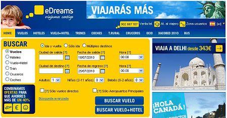 edreams vuelos hoteles baratos