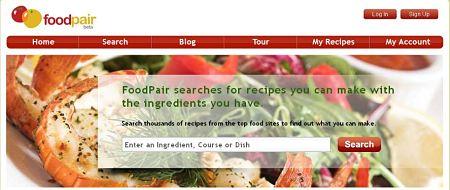 foodpair buscar online recetas ingredientes