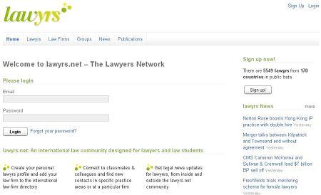 Lawrys red social abogados estudiantes derecho