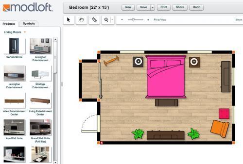 Crear planos de casas con modloft for Disenar habitaciones online 3d