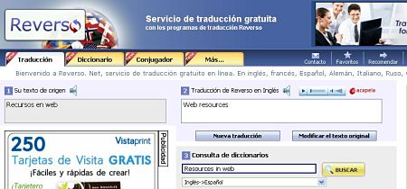 reverso traductor online