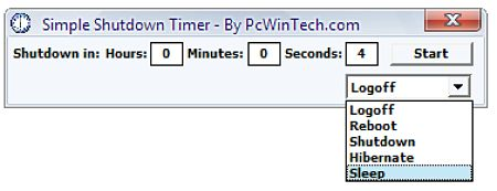 simple shutdown -timer programar encencido apagado pc