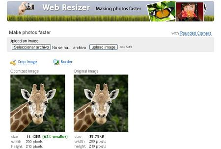 Web Resizer editar imagenes online