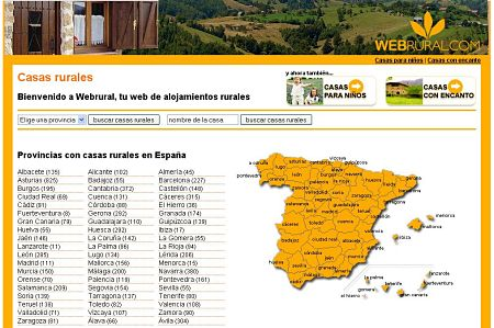 Webrural casas rurales reservar