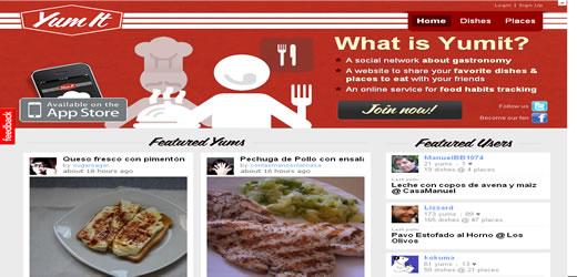 yumit red social recetas platos cocina gastronomia