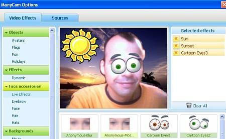 añadir efectos web cam mensajeros manycam virtual webcam