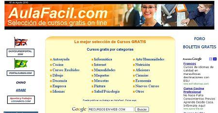 Aulaf cil cursos gratis online for Cursos de cocina gratis por internet