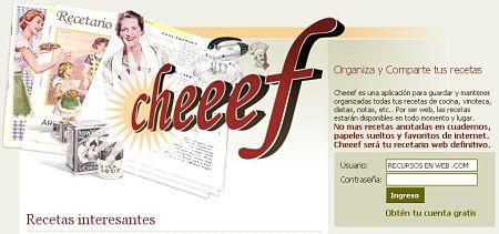 cheeef cocina recetas red social