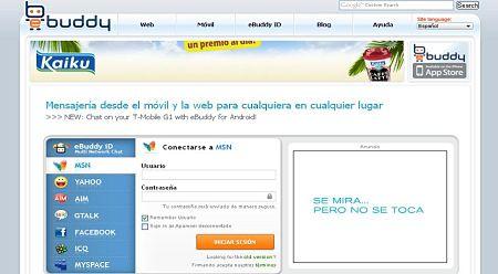 ebuddy mensajeria online msn messenger