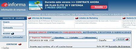 eInforma empresas informacion judicial mercantil financiera