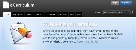 elcurriculum curriculum online buscar trabajo