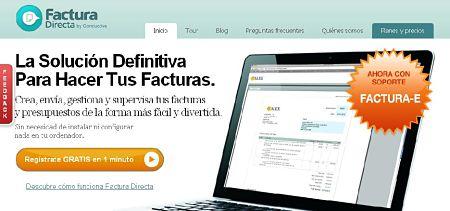 facturadirecta crear facturas y presupuestos online