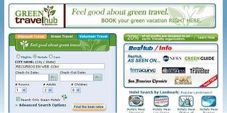 hoteles ecologicos Green Travel Hub
